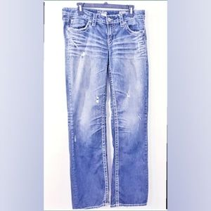 Silver Jeans Relaxed Distress Jeans